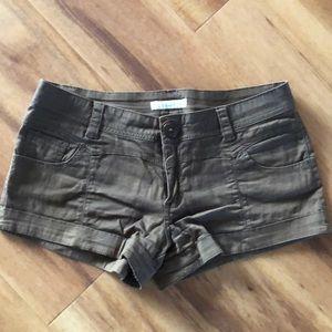 Charlotte Russe size 5 super short brown shorts